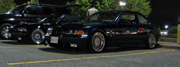 I'm really into low e36's these days. Both of these were super slammed and rocking beatuiful wheels.