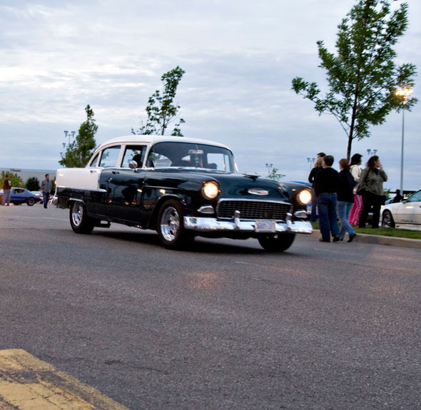 These 50s era Chevy's are classic Two Lane Black Top anyone?