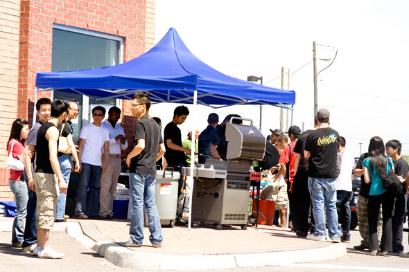 BBQ was busy the whole day and free :)