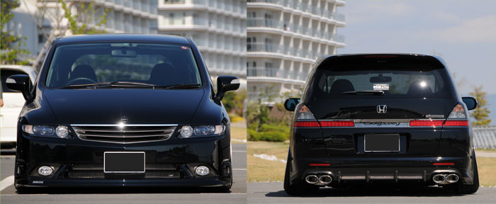 Front and back  of another black Odyssey