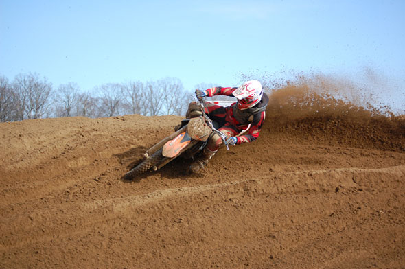 Berm sliders are classic moto cross action shots