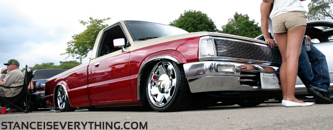 Mazda with caddy wheels