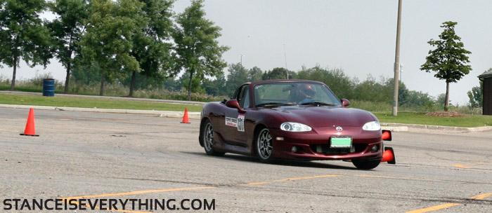 Miatas are popular auto cross vehicles