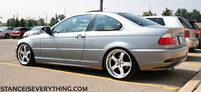 Classy e46 in the parking lot