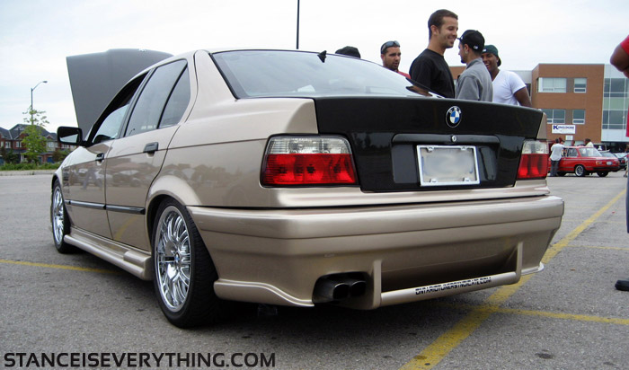 Rear of the champagne e36