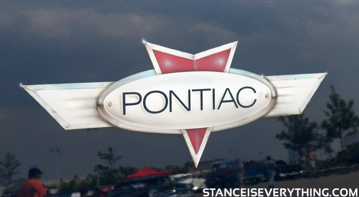 Airbrushed Pontiac logo, pretty boss