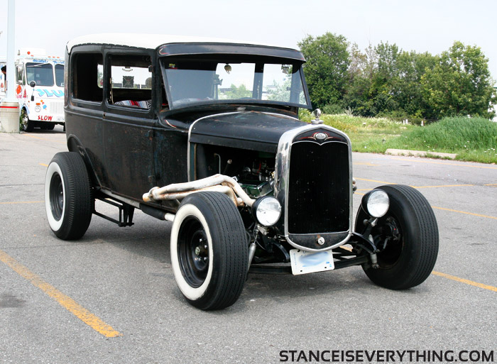 Classic vintage hot rod style