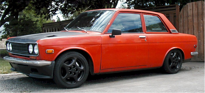 Porsche rims on a  Datsun work for me
