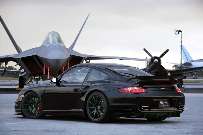 I'm not sure what looks more menacing the plane or the car