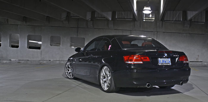 Black Sapphire Metallic shining in this underground parking