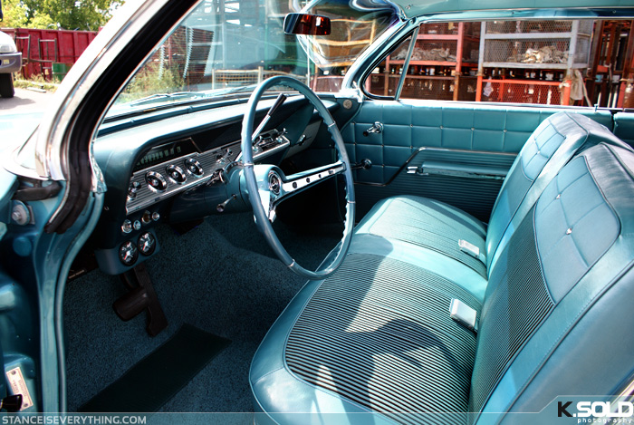 Like Eugene's Firebird Impalas are also capable of pulling off a teal interior