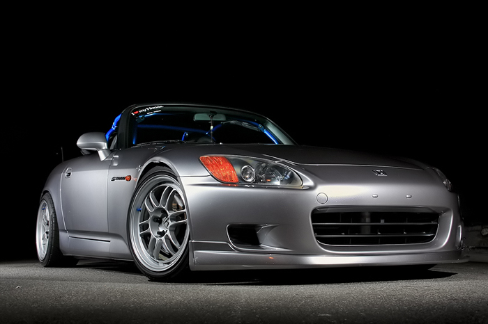 I've seen a few s2000s with blue cages, I wonder what that's about