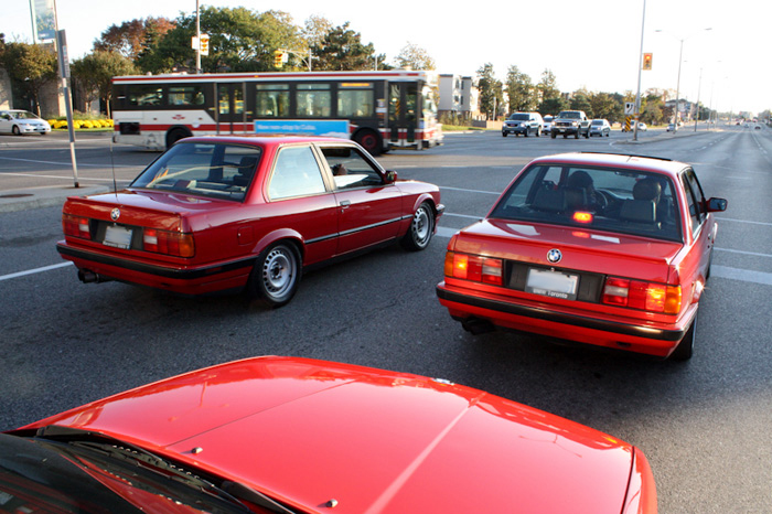 The craziest thing is that all of these cars are different types of red