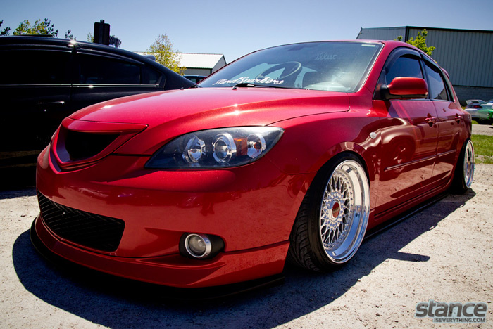 2013_stretch_and_poke_fitted_hard_sparkers_mazda_3_bbs_side