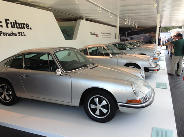 The 911 is 50 this year, so to celebrate Porsche had… a few 911s to show the evolution