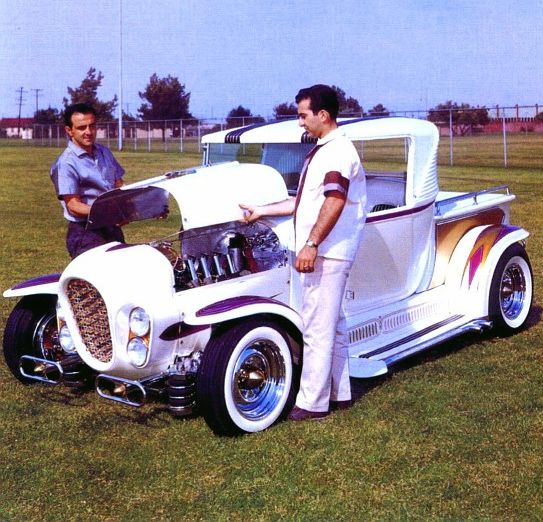 The 'Ala Kart' is a 29 Model cab and 27 Model T bed that Barris heavily modified for Richard Peters, it won the America's Most Beautiful Roadster Trophy twice and more info on it is here