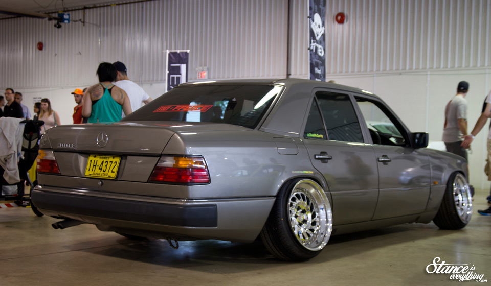 Going to start things off with the Messer wheels on Stance East Chad's Mercedes