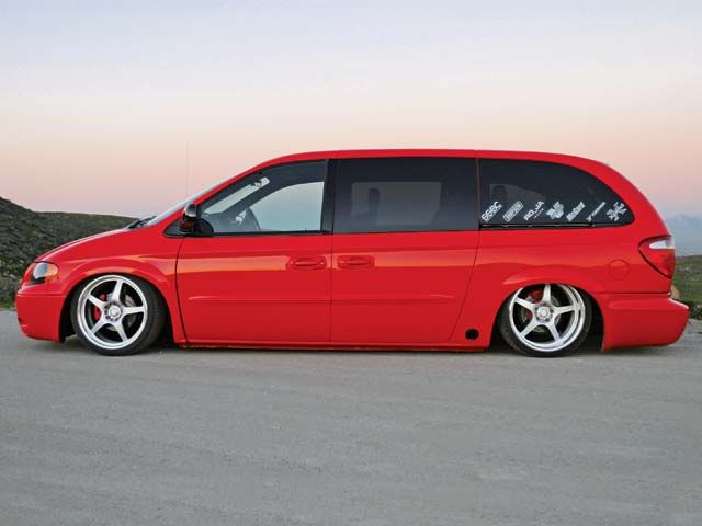 Who would expect APC of all comapnys to be involved in the build a a supercharged rwd dodge Caravan that looks badass?
