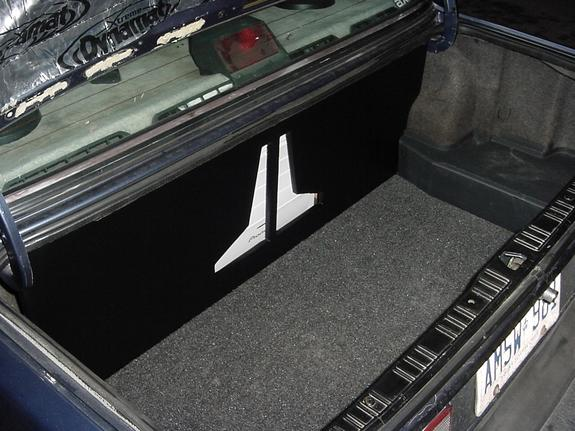 This was with all the covers installed, it  clenaed up the trunk pretty nice