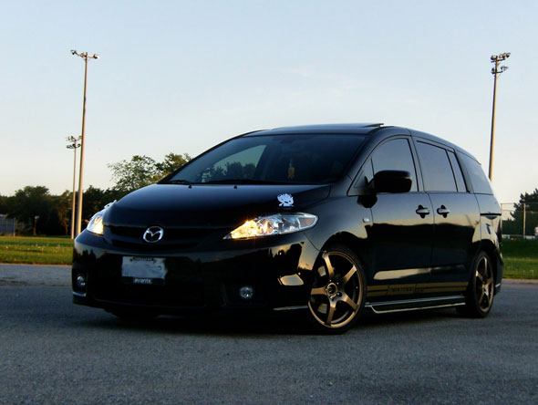 Mazda5s are also another popular platform being a large 3 after all, this one looks a bit different these days
