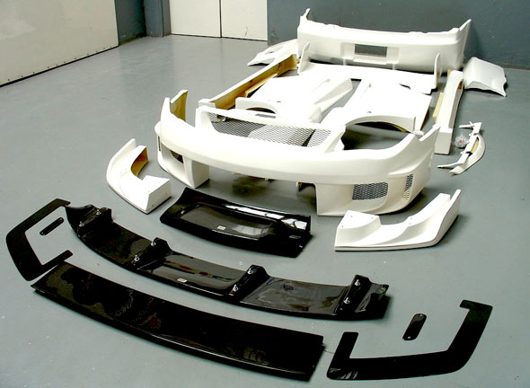 A whopping 22 piece Chargspeed Subuaru WRX bodykit