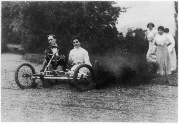 Proof that even in the old days driving skills got you women