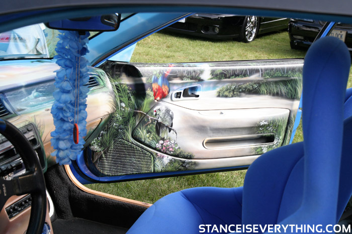 The dash and interior panels had been turned into works of art