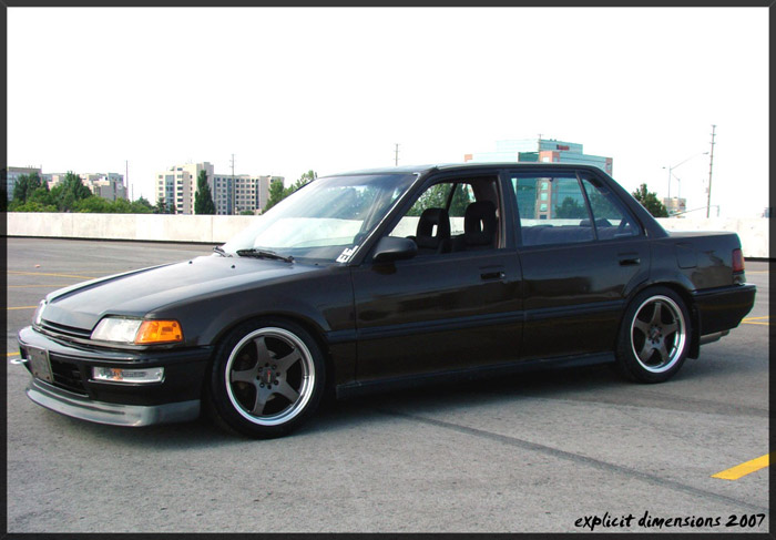 EF sedans are the exact opposite of the crx but still have clean lines