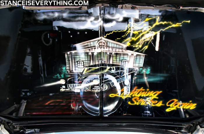 Airbrushed inside of the hood
