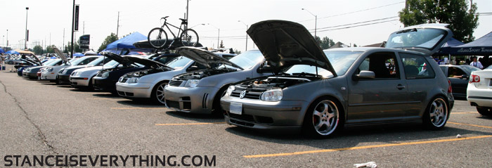 One end of the Mk4 lineup