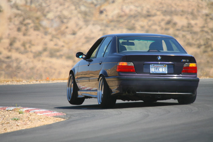 E36 m3 tearing up the track