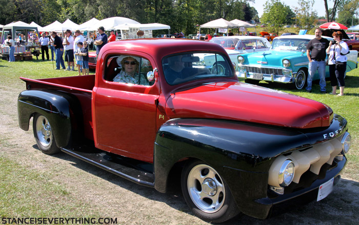 This old Ford F-1 was rocking some nice stance, a new set of wheels could really set it off