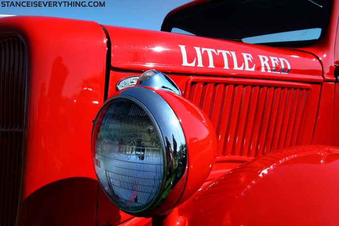 Red and chrome shine nice on a summers day