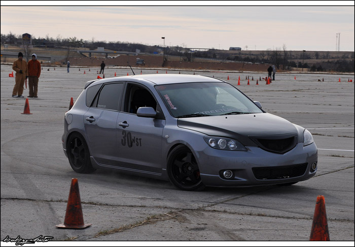 Mazda 3 getting down to business on the track