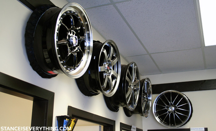 Some of the wheels on display at Simply