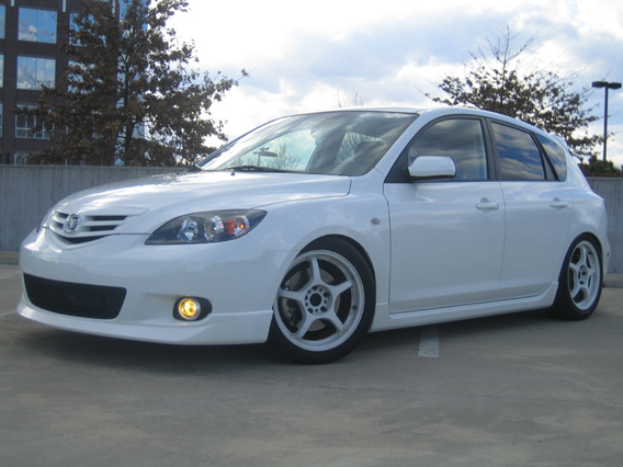 I don't mind the white on white but I could never keep white wheels clean personally
