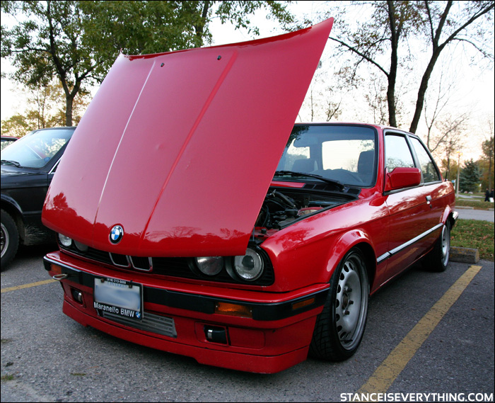 The only dude inthe e30 scene rocking steelies so  hard