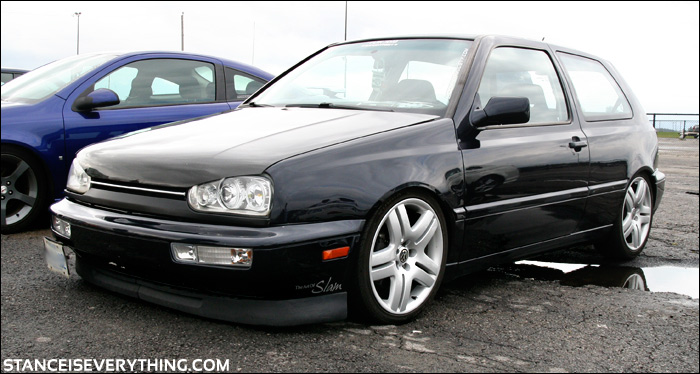 I see this Slammed GTI on the street and at  shows quite a bit