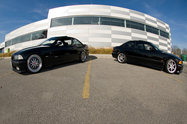 Dooge and a local BMX legend showing of their clean e36s