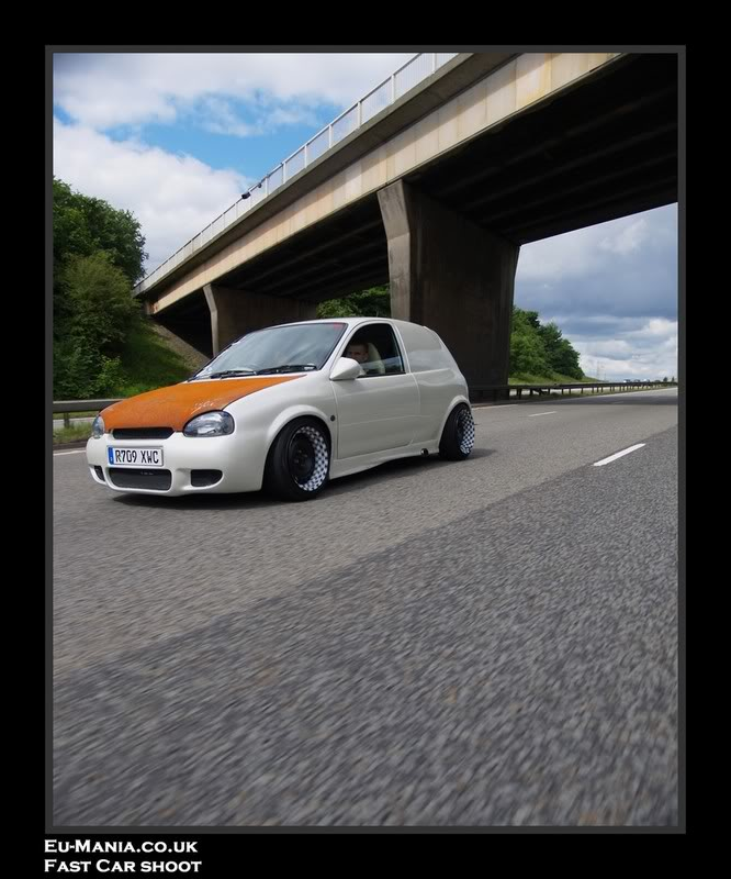 Widened checkered steels on this euro hatch