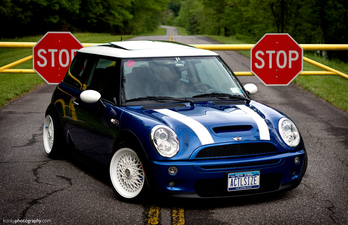 The license plate on this mini is killer!