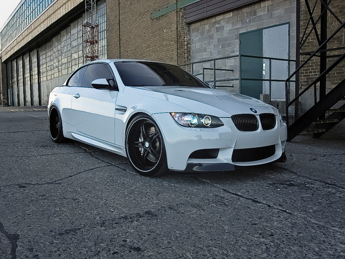 This drop top m3 is suited and booted in black and white