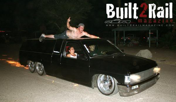 One day I have to go to a Stateside minitruck show, these dudes get loose