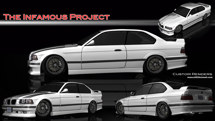 The Infamous Project E36 is lower than the rendering