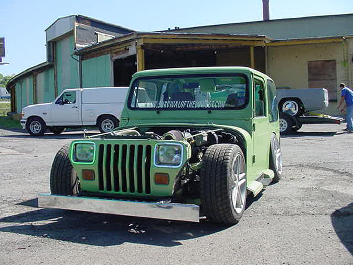 This jeep has been kicking around for years, ruffled a lot of feathers when it was first done
