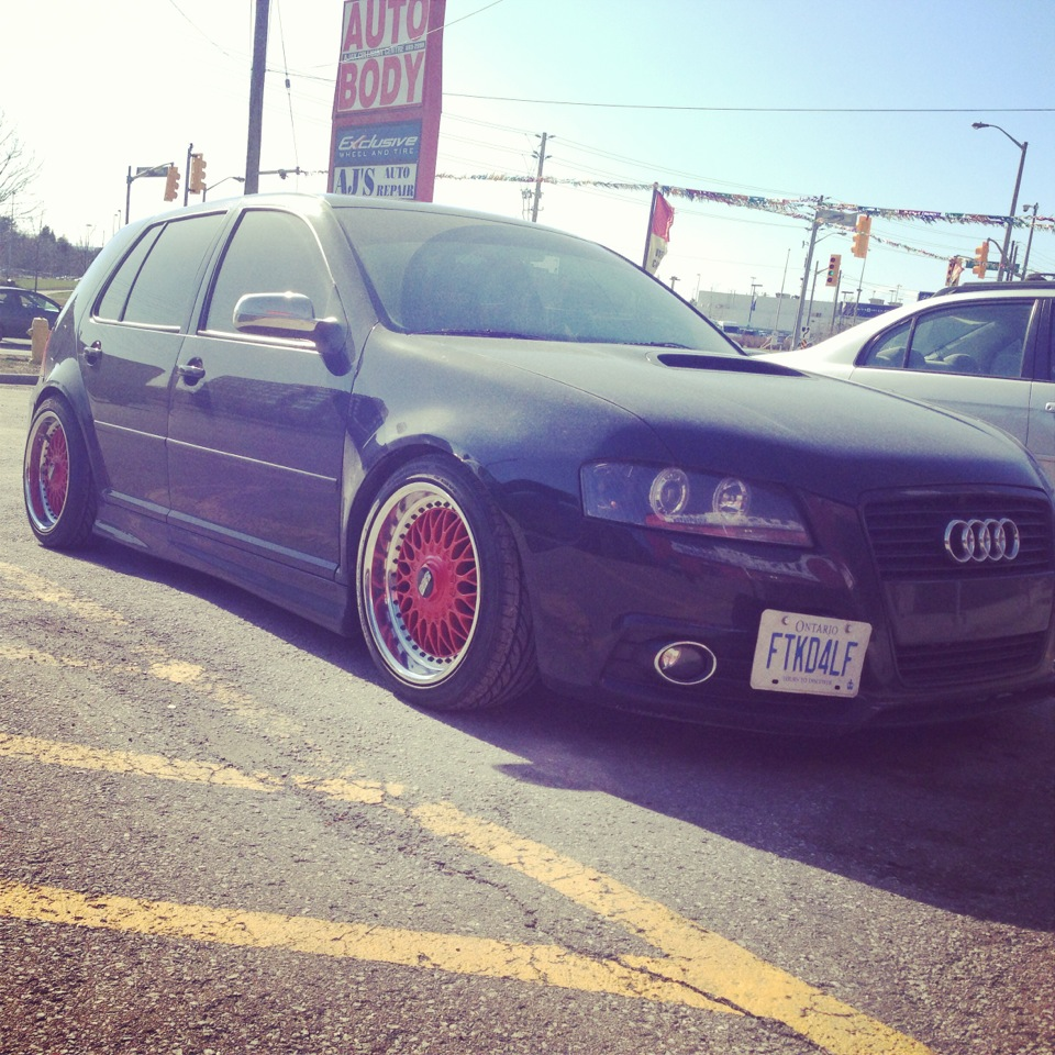 Local Golf with an A3 swap sitting on style 5s. The craftsmanship on this one is immaculate