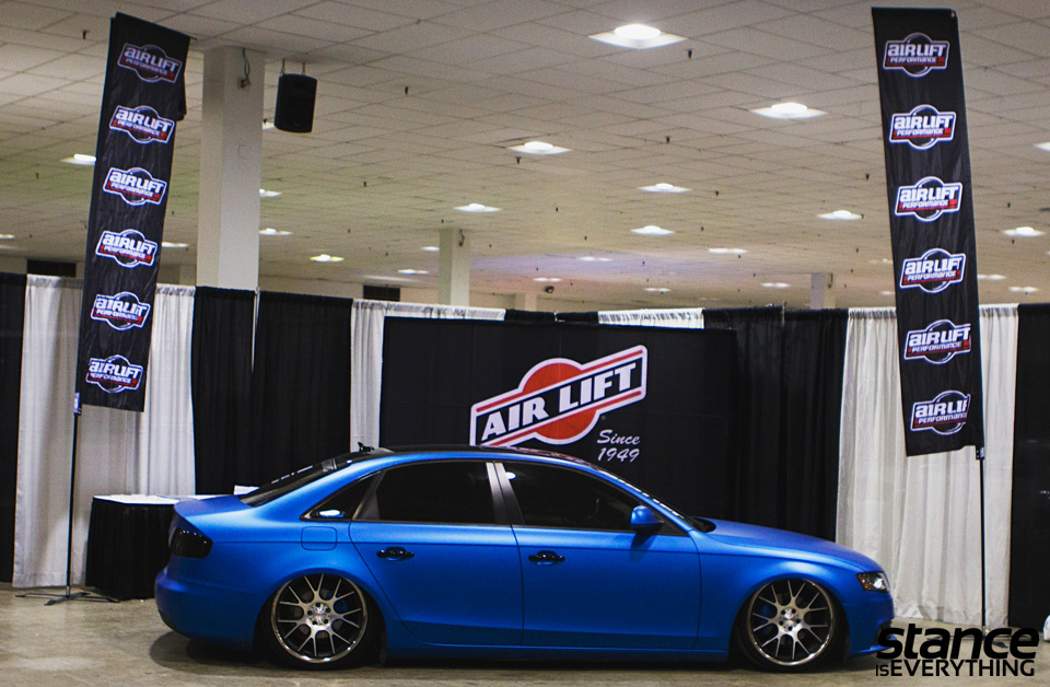 Blair's car is now blue thanks to Street Dreams Autosports