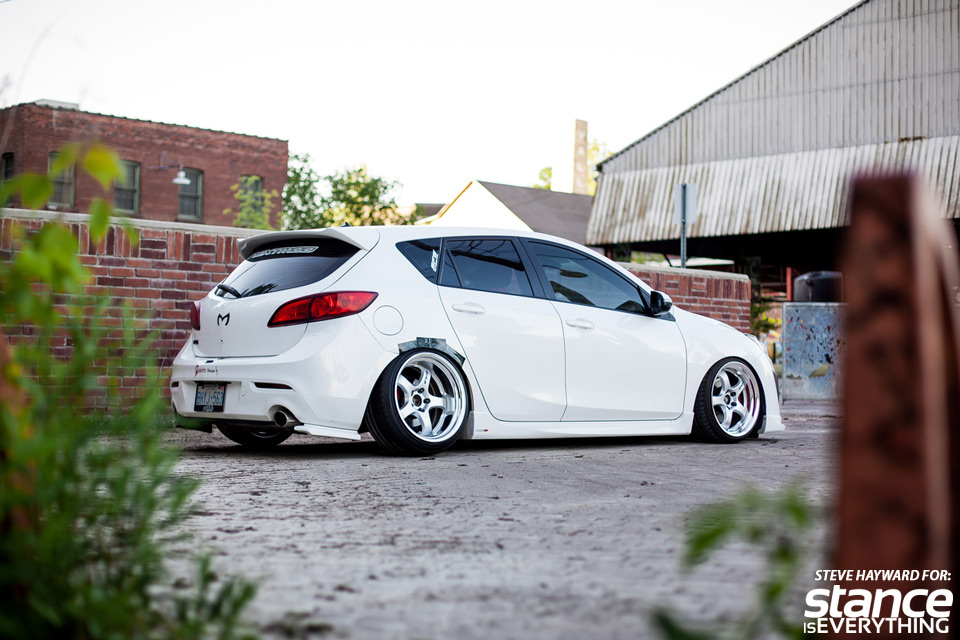 shea-2010-mazda3-work-wheels-rear-three-quarter