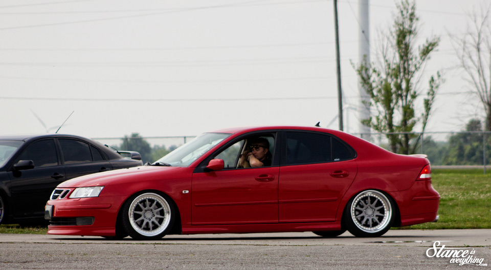 Likely the only Saab you will ever see on ADV.1 wheels